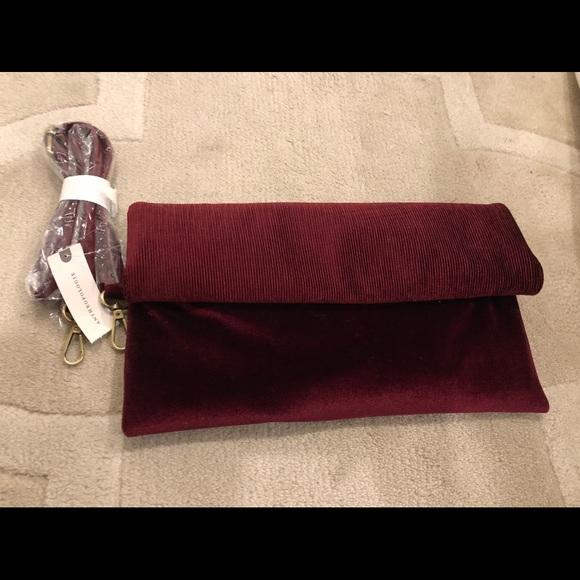 Anthropologie Handbags - Anthropologie Velvet Clutch